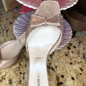 Bruno Magli size 8 heels snakeskin with bow💋